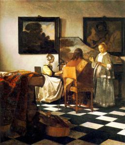 """""""The Concert"""", pintada em 1665-1666 com o uso do aparato tecnológico."""